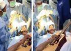 തലച്ചോർ തുരന്നുള്ള ശസ്ത്രക്രിയ വേളയിൽ ഗിറ്റാർ വായിച്ച് രോഗി! (വിഡിയോ)