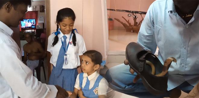 സ്കൂൾ വിദ്യാർത്ഥിനിയുടെ ഷൂസിനുള്ളിൽ മൂർഖൻ പാമ്പ്; മുന്നറിയിപ്പുമായി വാവ സുരേഷ്; വിഡിയോ