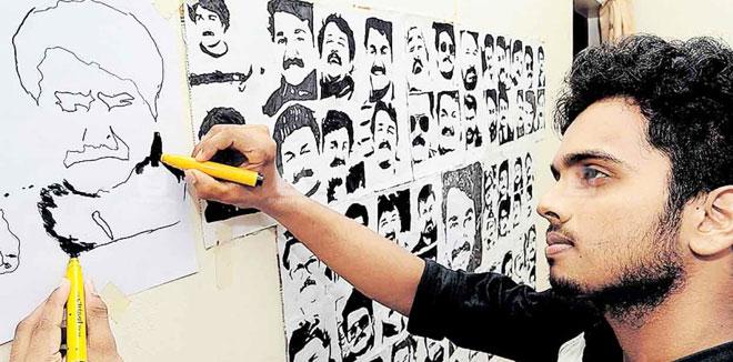 ലാലേട്ടന്റെ 61 കഥാപാത്രങ്ങളെ വരയിലാക്കി ഇന്ത്യ ബുക്ക് ഓഫ് റെക്കോർഡ്സ് നേട്ടം; ശ്രീരാഗിനെ ഫോണിൽ അഭിനന്ദിച്ച് മോഹൻലാൽ